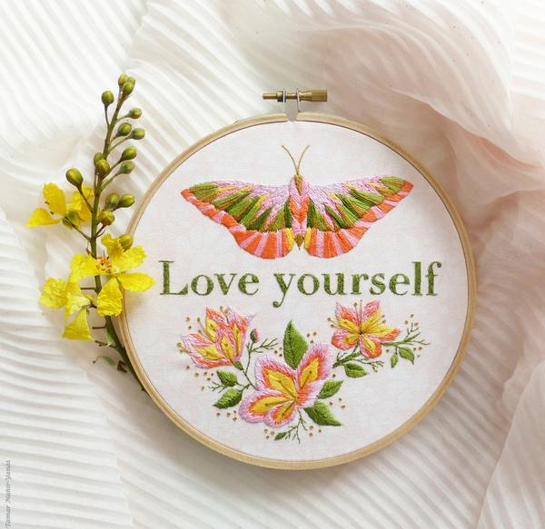 "Love Yourself 6"" Embroidery Kit"