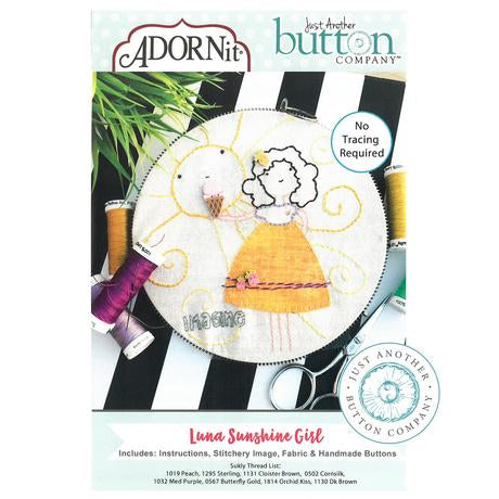Luna Sunshine Girl Embroidery Kit