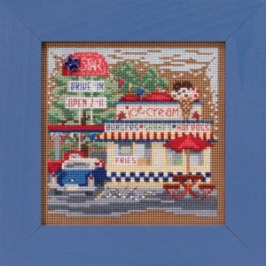 Drive-In Beaded Cross Stitch Kit