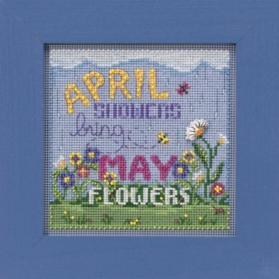 April Showers Beaded Cross Stitch Kit