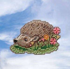 Hedgehog Beaded Cross Stitch Kit