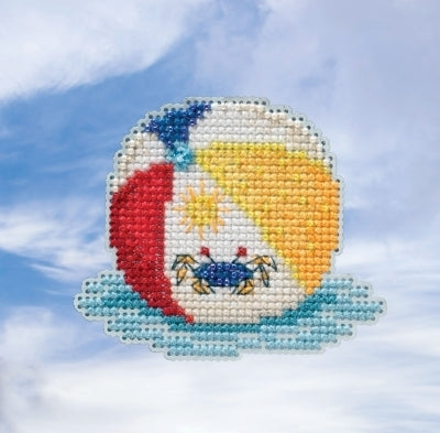 Beach Ball Beaded Cross Stitch Kit