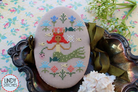 Mermaid's May Pinbook - Lindy Stitches - Cross Stitch Pattern
