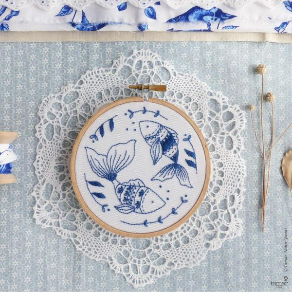 "Ocean Fish 4"" Embroidery Kit"