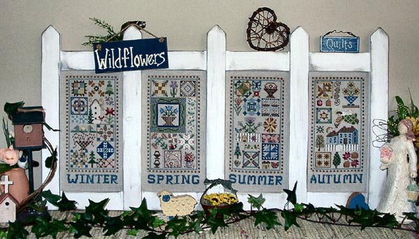 Picket Fence Seasons in Patchwork