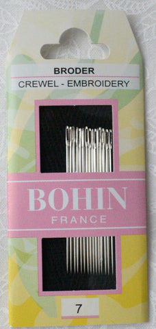 Bohin Embroidery Crewel Needles Size 7