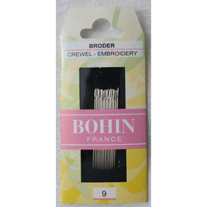 Bohin Embroidery Crewel Needles Size 9