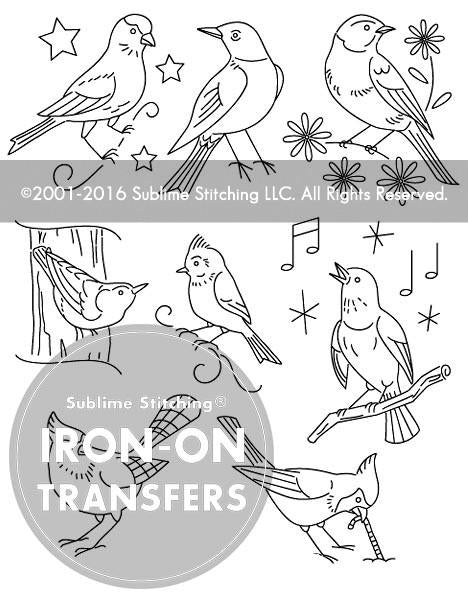 Song Birds Small Pack Embroidery Patterns