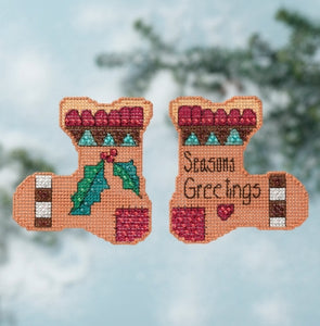 Sticks - Season's Greetings Beaded Cross Stitch Kit