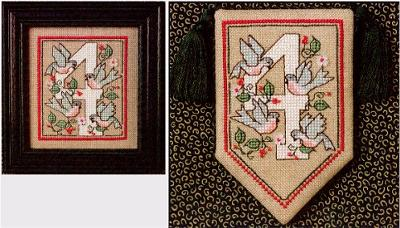 Four Calling Birds - Cross Stitch Pattern