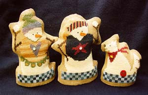 Snow Family #1 - Cross Stitch Pattern