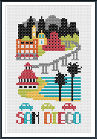San Diego - Cross Stitch Pattern