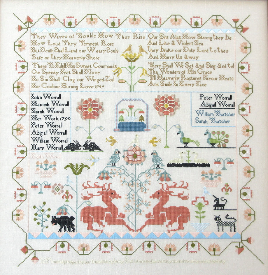 Sarah Worrall 1790 - Cross Stitch Pattern