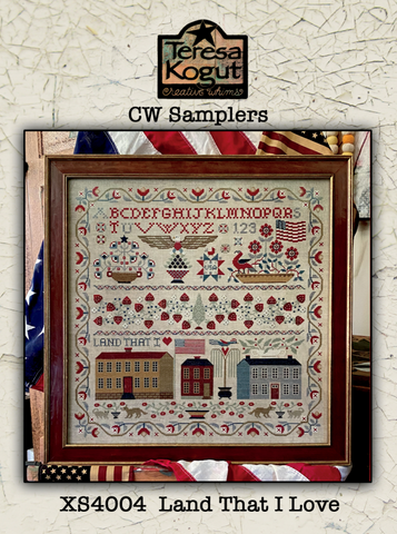 Land That I Love (CW Sampler) - Cross Stitch Pattern