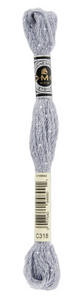 Mouliné Étoile - C318 (Light Steel Gray) - DMC Embroidery Floss