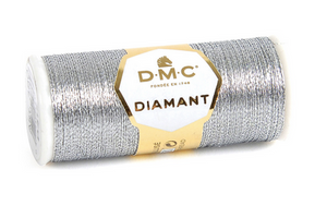 Diamant Metallic Thread - D415 (Dark Silver) - DMC Embroidery Floss