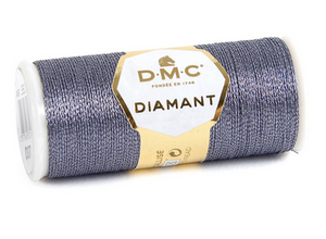 Diamant Metallic Thread - D317 (Anthracite Grey) - DMC Embroidery Floss