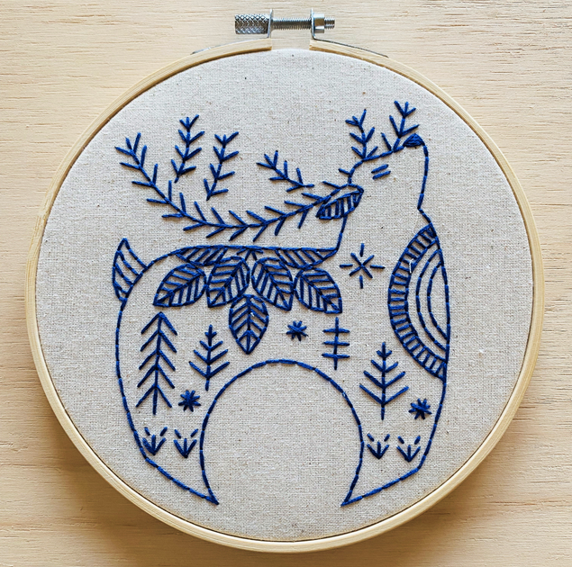 Hygge Reindeer Embroidery Kit