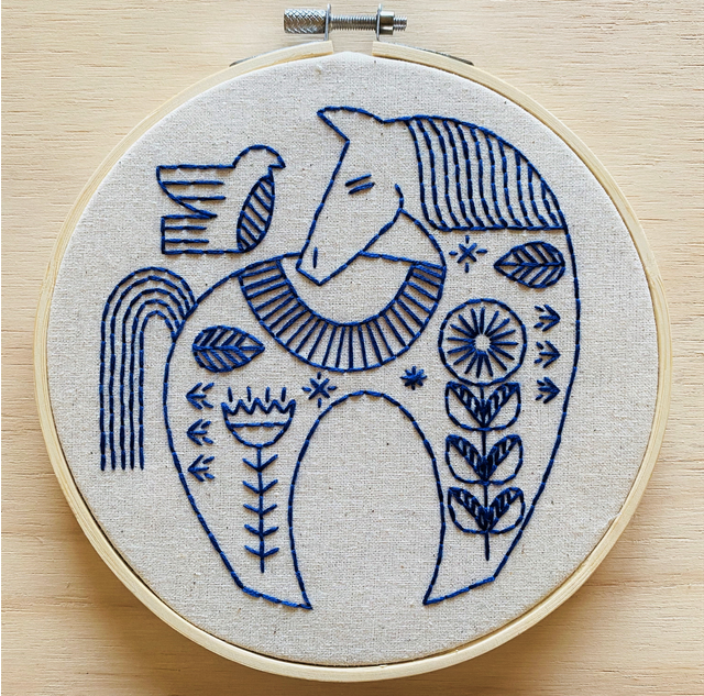 Hygge Horse Embroidery Kit