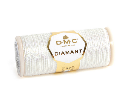 Diamant Metallic Thread - D5200 (White) - DMC Embroidery Floss