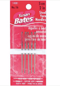 Susan Bates Steel Yarn Needles Size 16, 2""