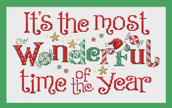 It's the Most Wonderful Time - Cross Stitch Pattern