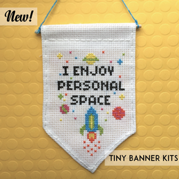 I Enjoy Personal Space Tiny Banner Kit