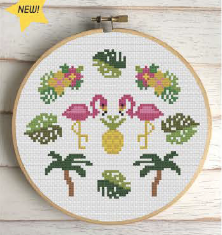 Tropical - Cross Stitch Pattern