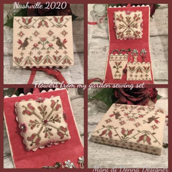 Flowers of My Garden Sewing Set - Cross Stitch Pattern
