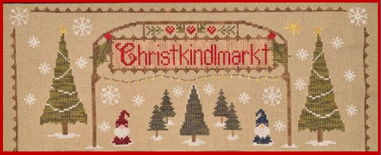 Christkindlmarkt #1 - Top Portion - Cross Stitch Pattern