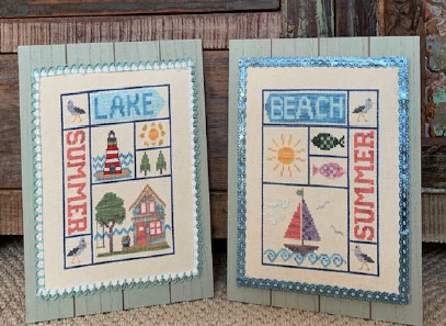 Summer: Lake & Beach - Cross Stitch Pattern