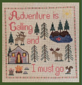 Adventure is Calling - Cross Stitch Pattern