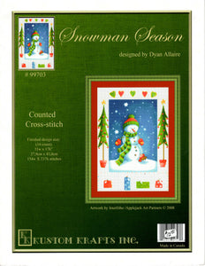 Snowman Season - Cross Stitch Pattern