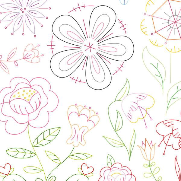 Fantasy Flowers Small Pack Embroidery Patterns