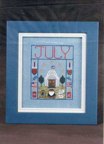 House on a Hill #7 - July House - Cross Stitch Pattern