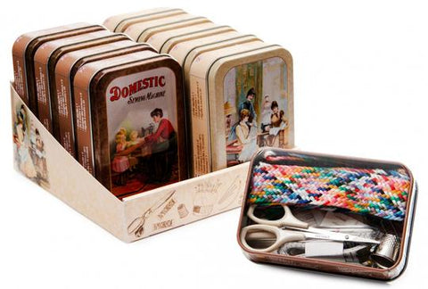 Vintage Tin Sewing Kit