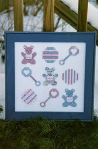 Watercolour Baby Toys - Cross Stitch Pattern