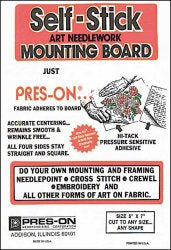 "8"" x 10"" Pres-On Mounting Board"