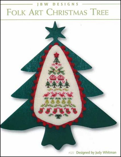 Folk Art Christmas Tree - Cross Stitch Pattern
