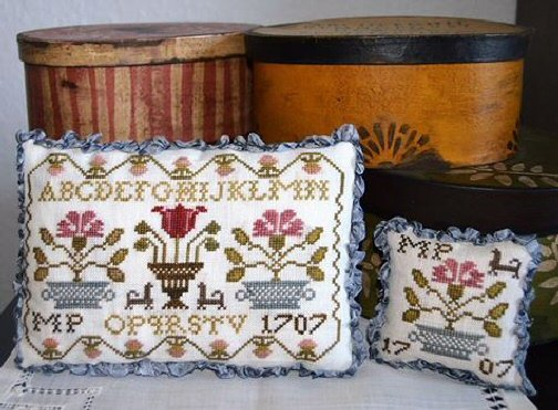 Mary Pilgrim's Sampler Pillow & Needle Rest