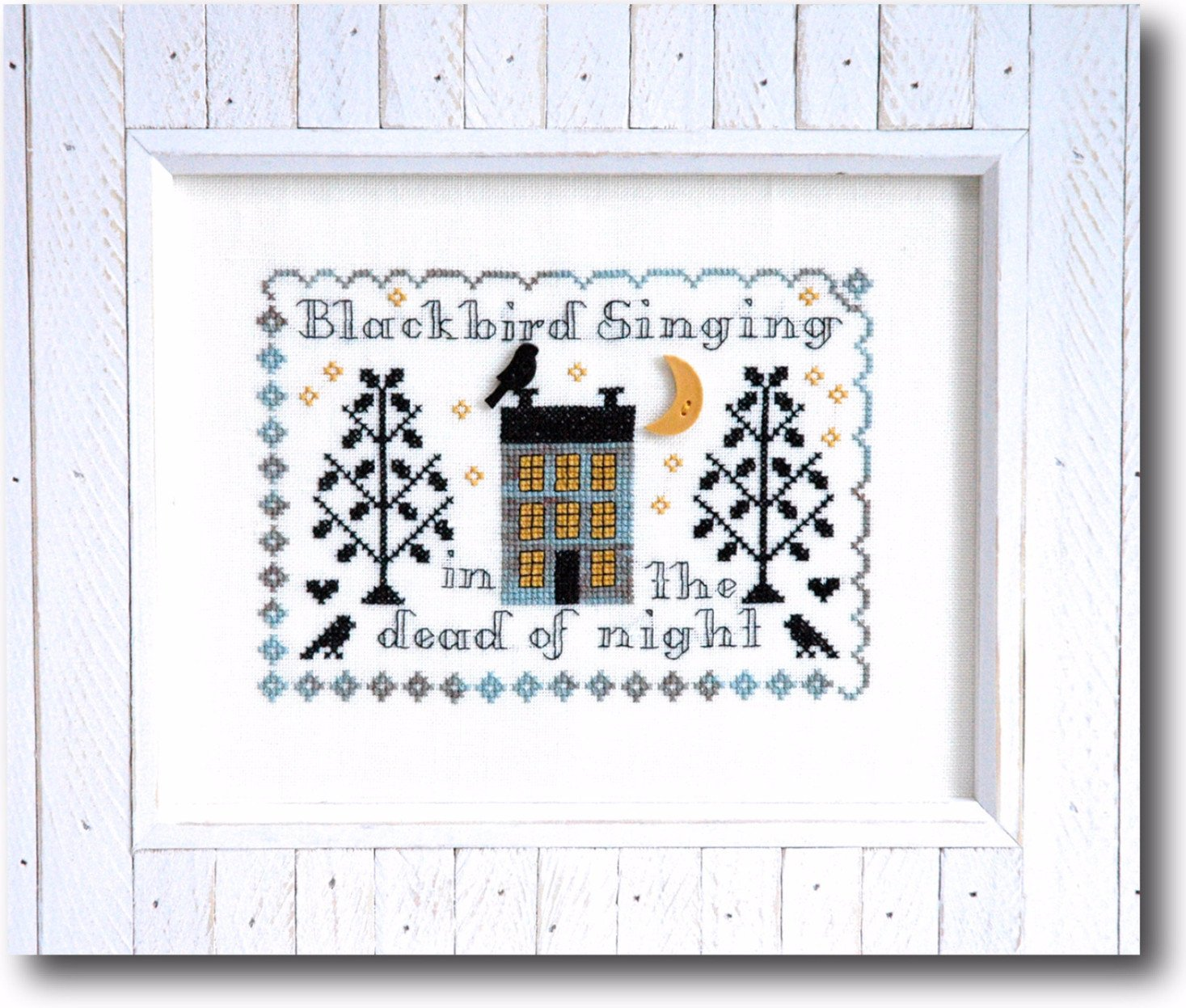 Blackbird Singing - Cross Stitch Pattern