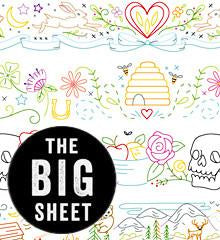 Sublime Borders Big Sheet Embroidery Patterns