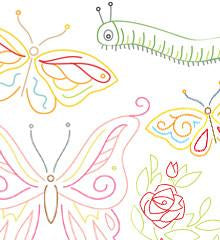Butterfly Garden Small Pack Embroidery Patterns