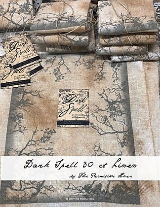 "30ct Dark Spell Linen - 10.5 x 12"" - Cross Stitch Fabric"