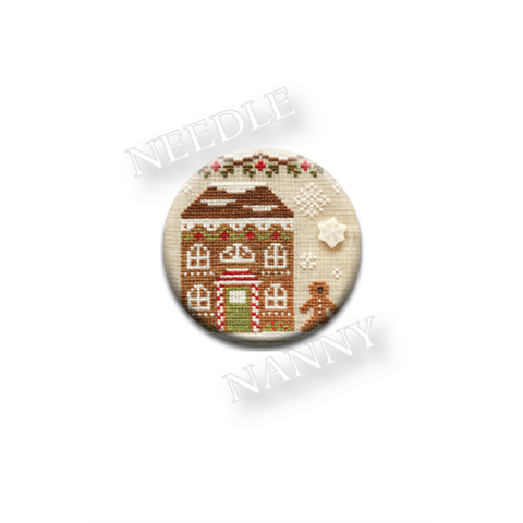 "Country Cottage Needleworks ""Candy Cane House"" Needle Nanny"