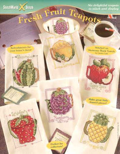 Fresh Fruit Teapots - Cross Stitch Pattern