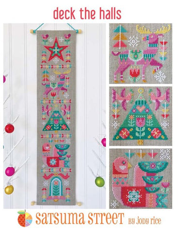 Deck the Halls - Cross Stitch Pattern