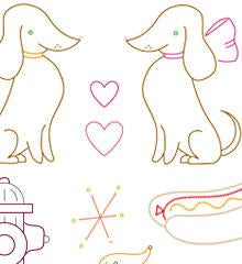 Darling Dachshunds Small Pack Embroidery Pattern