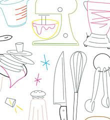Krazy Kitchen Small Pack Embroidery Patterns