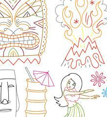 Tiki Freak Small Pack Embroidery Patterns